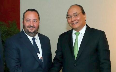 Thủ tướng Nguyễn Xuân Phúc tiếp Chủ tịch phụ trách thương mại CNN quốc tế