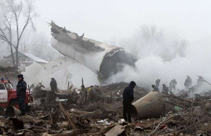 Kyrgyzstan: Máy bay Thổ Nhĩ Kỳ lao xuống nhà dân, ít nhất 37 người thiệt mạng