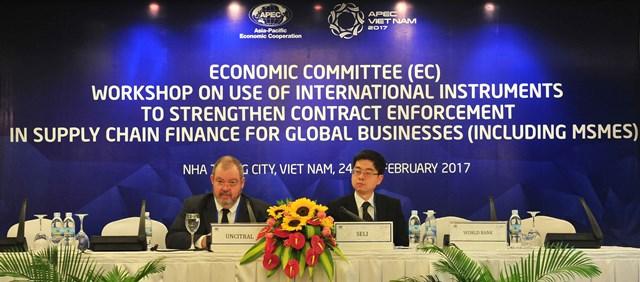 APEC 2017:  Tăng cường thực thi hợp đồng trong tài chính chuỗi cung ứng