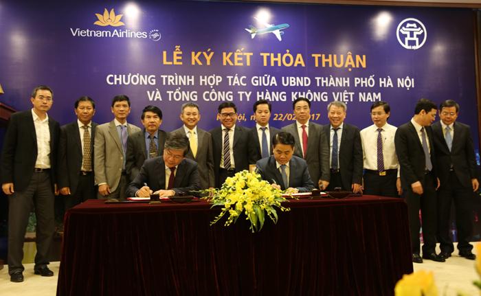 Ký kết thỏa thuận hợp tác giữa UBND thành phố Hà Nội và Tổng công ty Hàng không Việt Nam