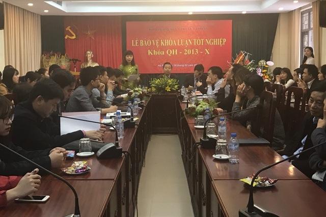 Nhiều sinh viên Báo chí tốt nghiệp trước hạn