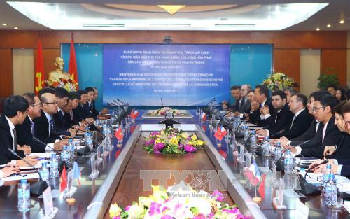 Việt Nam - Pháp hợp tác phát triển công nghệ thông tin, xây dựng chính phủ điện tử