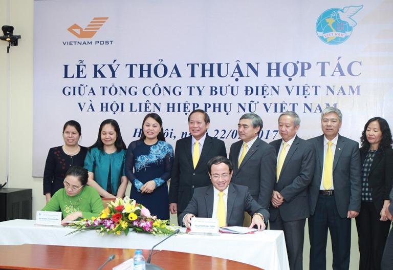 Bưu điện Việt Nam ký thỏa thuận hợp tác với Hội Liên hiệp Phụ nữ Việt Nam