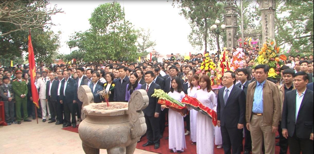 Hưng Yên dâng hương tưởng niệm  742 năm ngày tướng quân Phạm Ngũ Lão ra quân đánh giặc