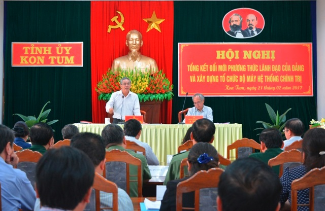 Kon Tum: Đề xuất quy định rõ chế độ trách nhiệm của người đứng đầu cấp ủy, tổ chức đảng