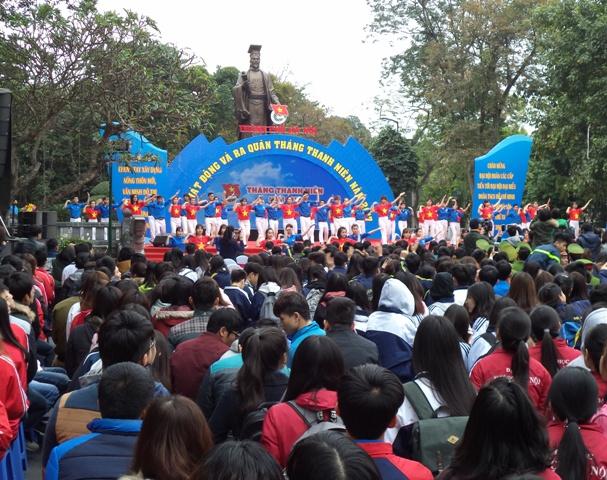 Thành đoàn Hà Nội tổ chức lễ phát động và ra quân Tháng Thanh niên năm 2017
