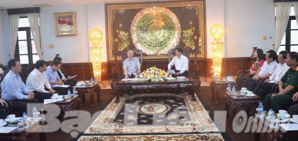 Tổng Bí thư Nguyễn Phú Trọng thăm và làm việc tại Bạc Liêu
