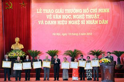 """Báo cáo Chính phủ về công tác xét tặng """"Giải thưởng Hồ Chí Minh"""", """"Giải thưởng Nhà nước"""" về văn học nghệ thuật"""