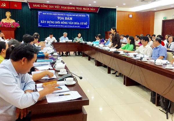 Ban Tuyên giáo Thành ủy TP Hồ Chí Minh tọa đàm xây dựng đời sống văn hoá cơ sở