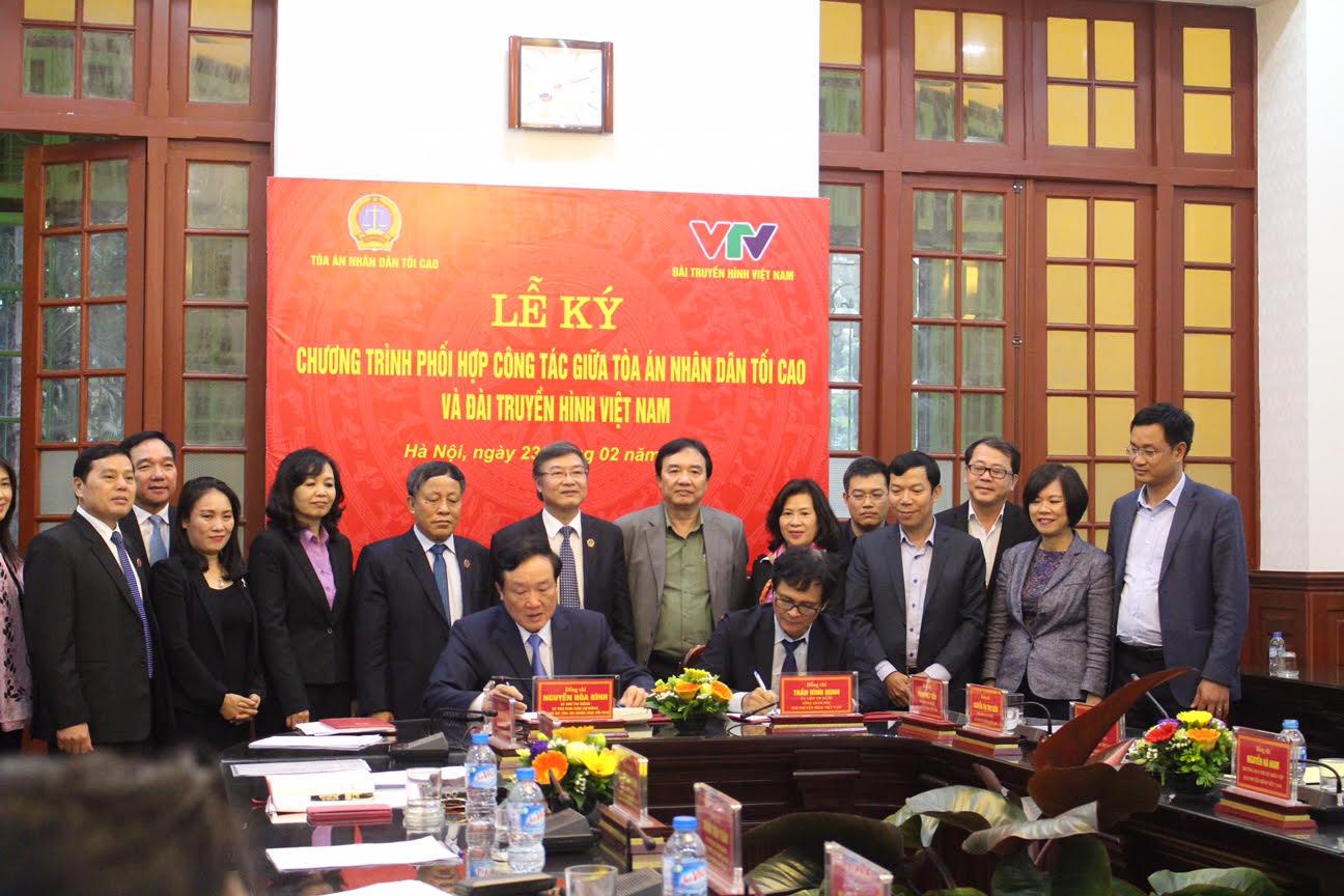 Tăng cường phối hợp công tác giữa Tòa án nhân dân Tối cao và Đài Truyền hình Việt Nam