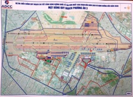 Đơn vị tư vấn trình ba nhóm phương án mở rộng sân bay Tân Sơn Nhất