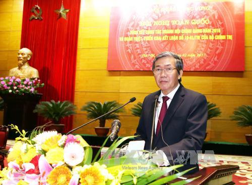 Ngành Nội chính Đảng triển khai công tác năm 2017