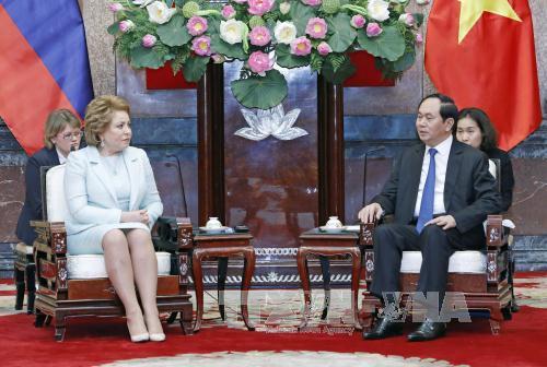 Chủ tịch nước Trần Đại Quang: Mong muốn có những bứt phá trong hợp tác kinh tế, thương mại Việt - Nga