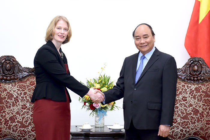 Thủ tướng Nguyễn Xuân Phúc tiếp Đại sứ New Zealand tại Việt Nam
