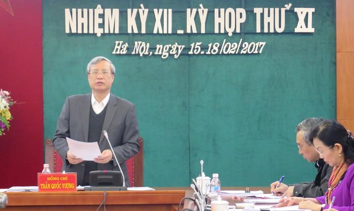 Thông báo Kỳ họp thứ 11 Ủy ban Kiểm tra Trung ương
