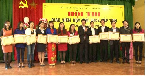 Hưng Yên tổ chức hội thi giáo viên dạy giỏi THCS cấp tỉnh