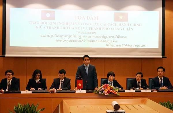 Hà Nội - Viêng Chăn trao đổi kinh nghiệm về cải cách hành chính