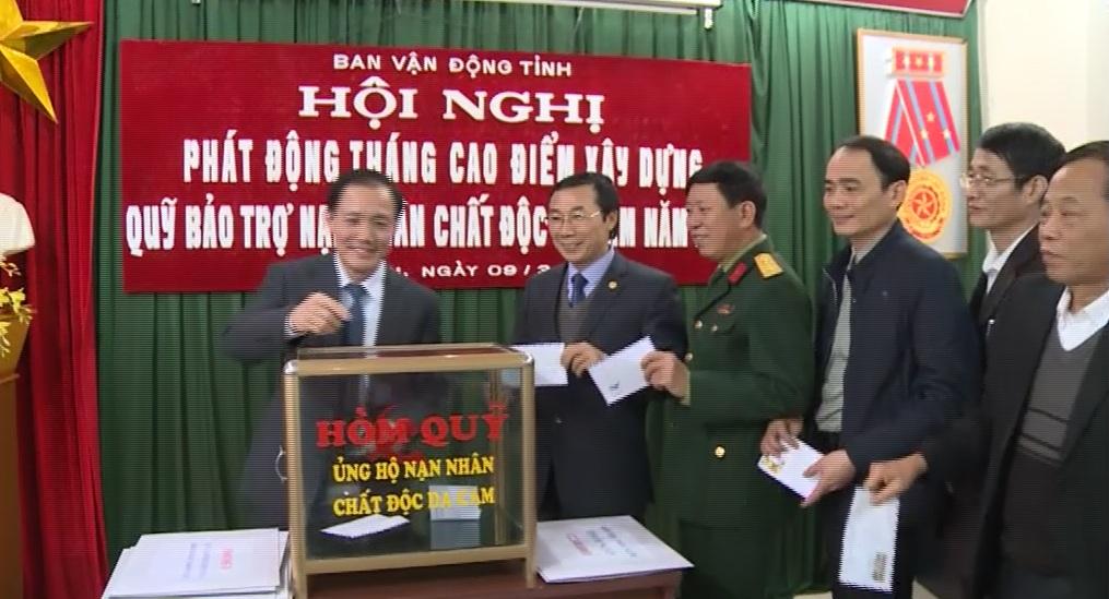 Hưng Yên phát động tháng cao điểm vận động xây dựng quỹ bảo trợ nạn nhân chất độc da cam năm 2017