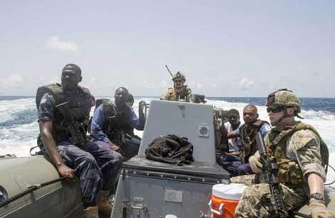 Tập trận quốc tế chống cướp biển tại Vịnh Guinea