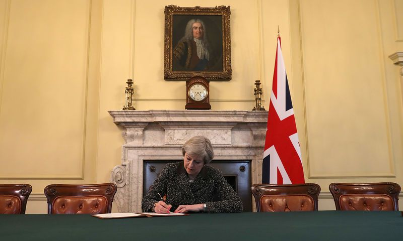 Anh chính thức khởi động tiến trình rời khỏi Liên minh châu Âu