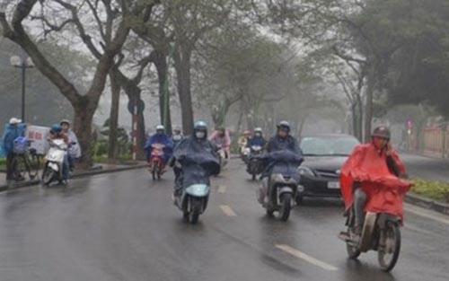 Không khí lạnh gây mưa to ở các tỉnh Bắc và Trung Trung Bộ