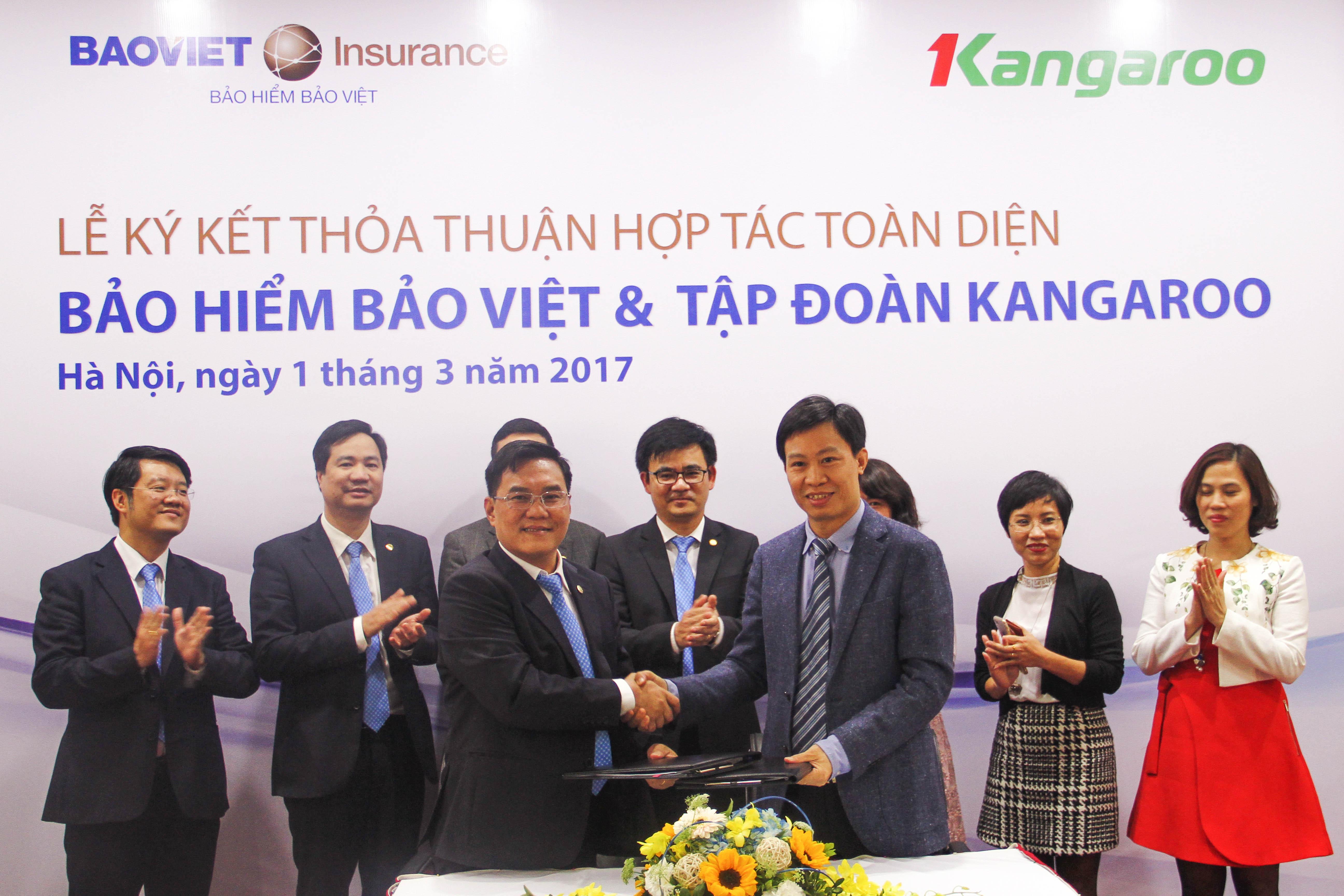 Bảo hiểm Bảo Việt tăng cường hợp tác với Tập đoàn Kangaroo