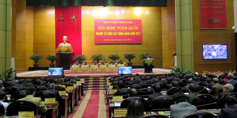Khai mạc Hội nghị toàn quốc Ngành Tổ chức Xây dựng Đảng năm 2017