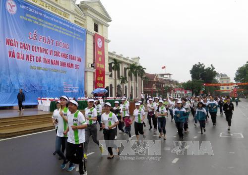 Sôi nổi Ngày chạy Olympic vì sức khỏe toàn dân tại các địa phương
