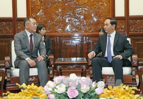 Chủ tịch nước Trần Đại Quang tiếp Phó Chủ tịch Tập đoàn Hyundai Motor