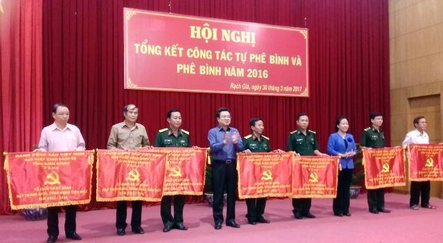 Kiên Giang: Tổng kết công tác tự phê bình và phê bình năm 2016