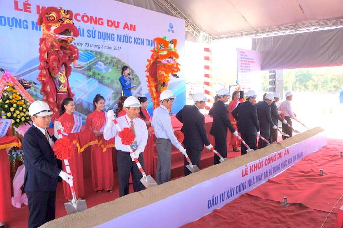Quảng Nam khởi công xây dựng nhà máy tái sử dụng nước trị giá 230 tỷ đồng