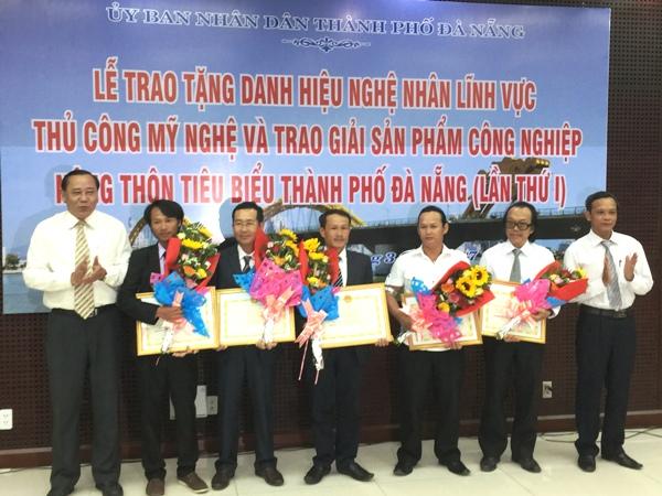Đà Nẵng: Trao tặng danh hiệu Nghệ nhân thủ công mỹ nghệ