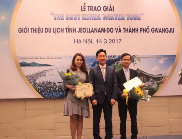 Trao giải cuộc thi về xây dựng tour du lịch mùa đông tới Hàn Quốc