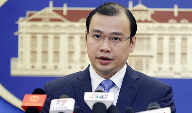 Việt Nam phản đối và yêu cầu phía Trung Quốc tôn trọng chủ quyền của Việt Nam và luật pháp quốc tế