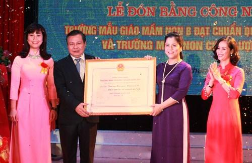 Trường mẫu giáo Mầm non B (Hà Nội) đạt chuẩn quốc gia mức độ 1