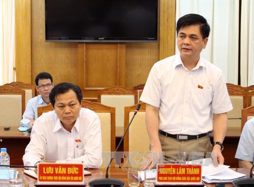 Đoàn giám sát Hội đồng Dân tộc của Quốc hội làm việc tại Bắc Giang