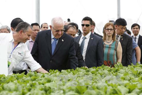 Tổng thống Israel và Phu nhân thăm Dự án đầu tư Nông nghiệp ứng dụng công nghệ cao VinEco Tam Đảo