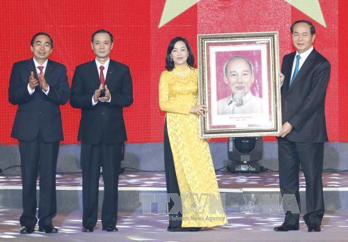 Chủ tịch nước Trần Đại Quang dự Lễ kỷ niệm 25 năm tái lập tỉnh Ninh Bình