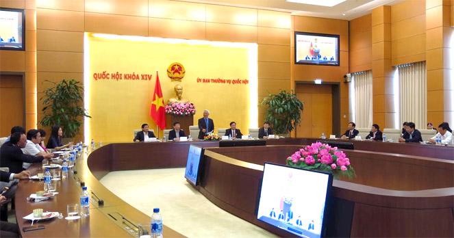 Phó Chủ tịch Quốc hội Uông Chu Lưu gặp mặt Đoàn cán bộ HĐND tỉnh Hưng Yên