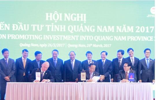 Ký kết hợp tác giữa PVN, Exxon Mobil và tỉnh Quảng Nam