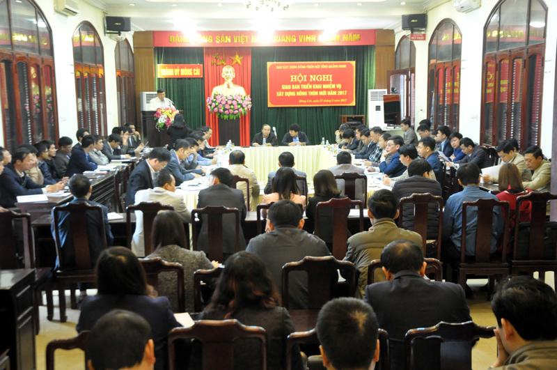 Quảng Ninh: Giao ban triển khai nhiệm vụ xây dựng nông thôn mới năm 2017