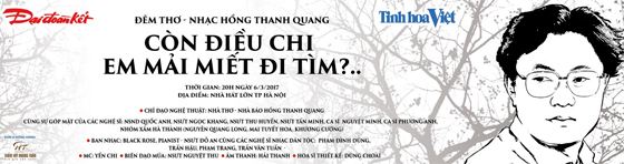 """Đêm thơ nhạc """"Còn điều chi em mải miết đi tìm?"""" của Hồng Thanh Quang"""