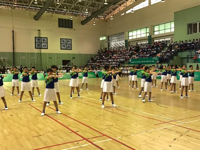 Hà Nội: 400 học sinh tham gia Hội thi đồng diễn thể dục buổi sáng