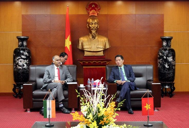 Đại sứ Ấn Độ tại Việt Nam làm việc với Bộ Công Thương