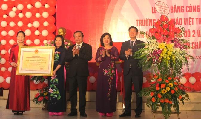 Trường Mẫu giáo Việt Triều Hữu nghị (Hà Nội) đón Bằng chuẩn quốc gia mức độ II