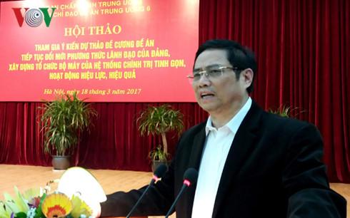 Tiếp tục đổi mới phương thức lãnh đạo của Đảng, xây dựng hệ thống chính trị tinh gọn, hiệu quả