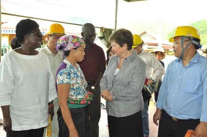 Tổng giám đốc Ngân hàng Thế giới thăm Thủy điện Trung Sơn