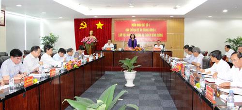 Đoàn công tác Ban Chỉ đạo Đề án Trung ương 6 làm việc với Ban Thường vụ Tỉnh ủy Bình Dương