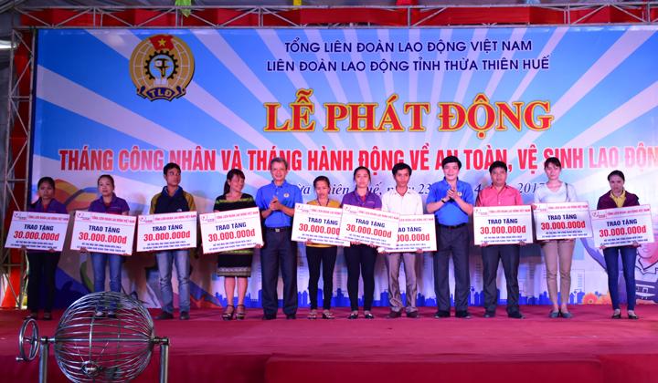 Thừa Thiên Huế: Phát động Tháng Công nhân và Tháng hành động vệ an toàn, vệ sinh lao động năm 2017