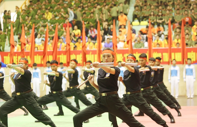 800 vận động viên dự Hội thi bắn súng, võ thuật thanh niên Công an nhân dân khu vực phía Bắc